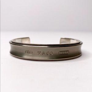 Authentic Tiffany & Co Silver/Titanium '1837' Cuff